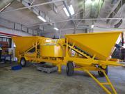 Mobile concrete mixing plant M - 2200